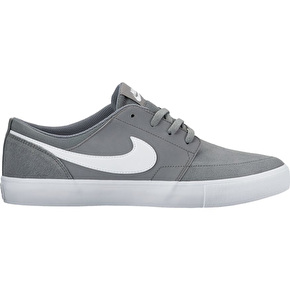 Nike SB Portmore II Solar Skate Shoes - Cool Grey/White