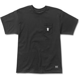 Grizzly OG Bear Embroidered Pocket T Shirt - Black/White
