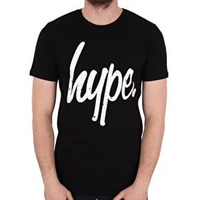 Hype Distressed T-Shirt - Black/White