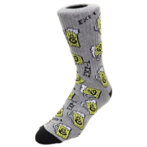 Expedition One Suds Crew Socks - Grey/Black
