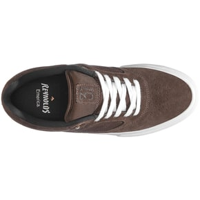 Emerica Reynolds 3 G6 Vulc Skate Shoes - Brown/White