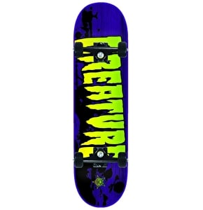 Creature Stained Complete Skateboard - Purple / Green 8