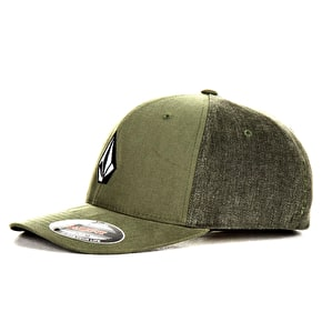 Volcom Full Stone Fabric Flexfit Cap - Cedar Green