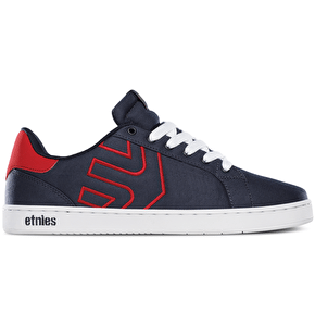 Etnies Fader LS Skate Shoes - Navy/Red/White