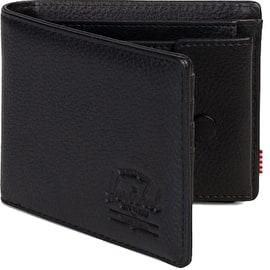 Herschel Hank + Coin Leather RFID Wallet - Black Pebbled Leather