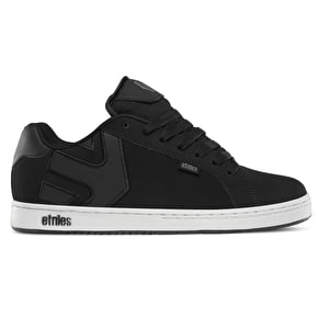 Etnies Fader Skate Shoes - Black/White/Silver