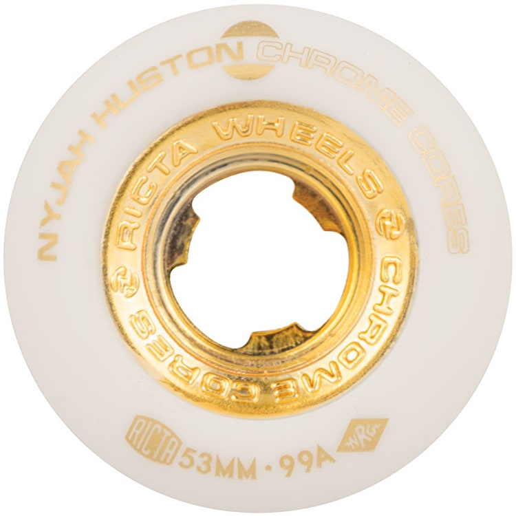 Ricta Huston Chrome Core 99a Skateboard Wheels - White 53mm