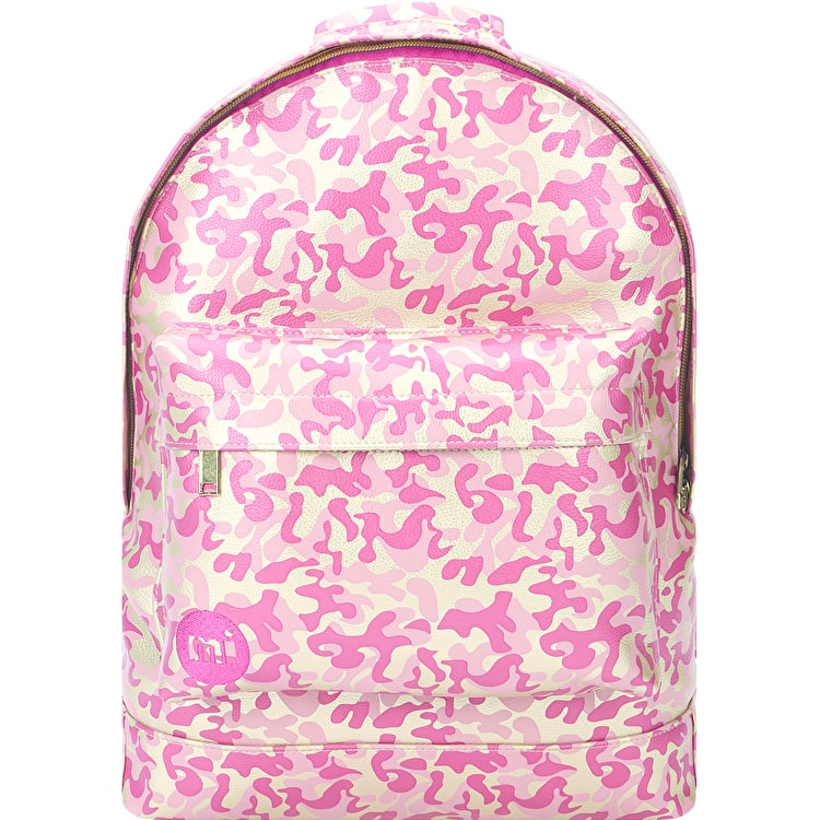 Mi-Pac Metallic Camo Backpack - Gold/Pink