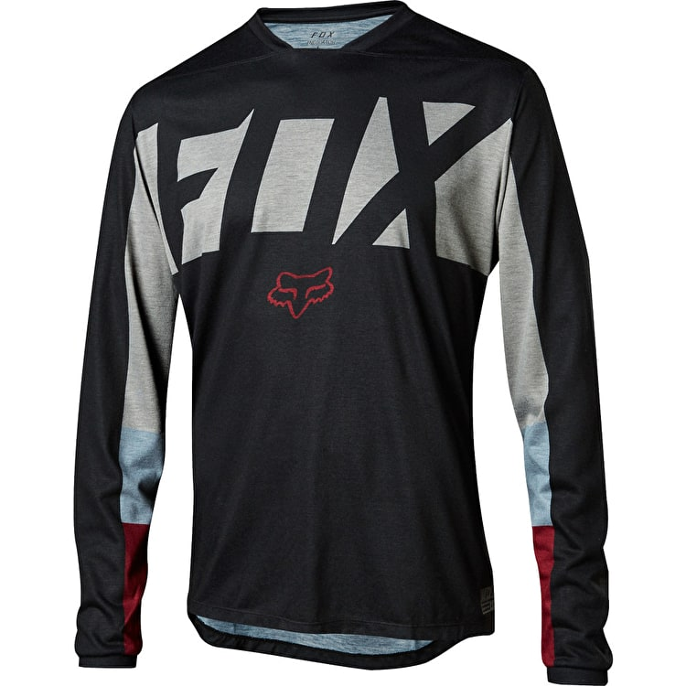 Fox Indicator Drafter Long Sleeve Jersey - Black