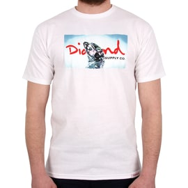 Diamond Supply Co Transparent T shirt - White