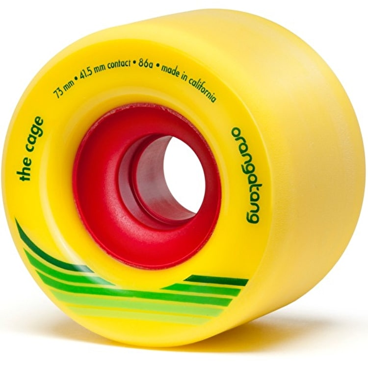 Orangatang Cage 73mm Longboard Wheels - Yellow (Pack of 4)