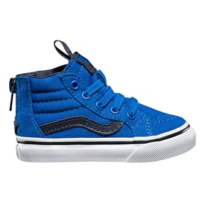 Vans Sk8-Hi Zip Toddler Skate Shoes - (Canvas) Imperial Blue/Parisian Night