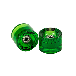 Karnage Super Smooth 59mm Skateboard Wheels - Green - 2 Pack