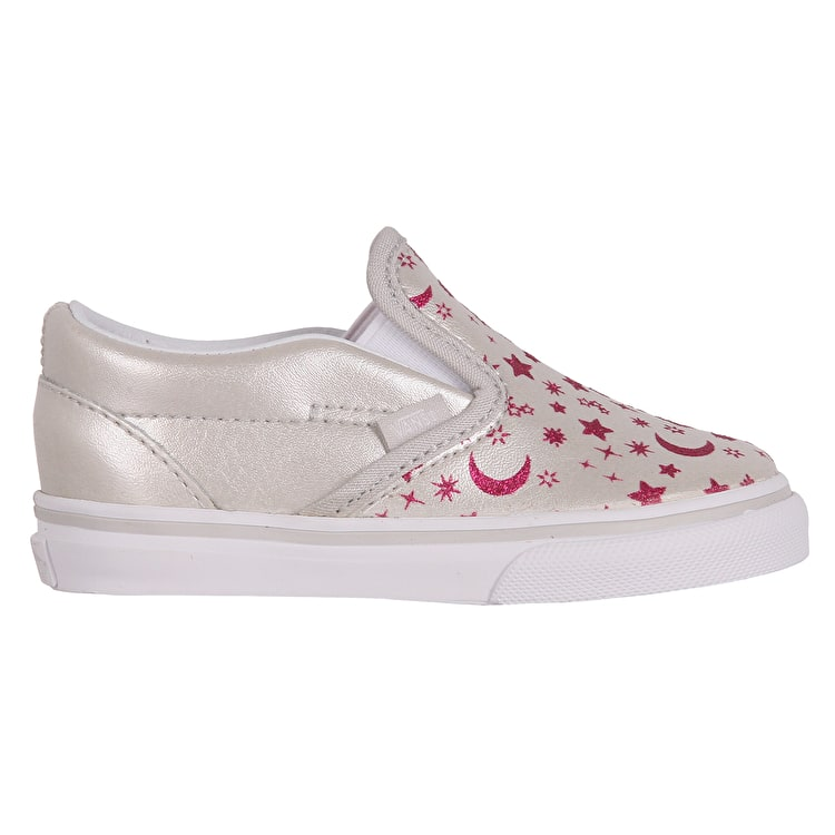 Vans Classic Slip-On Toddler Skate Shoes - (Star Glitter) Micro Chip/Glitter