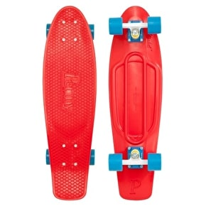 Penny Nickel Complete Skateboard - Red / Blue 27