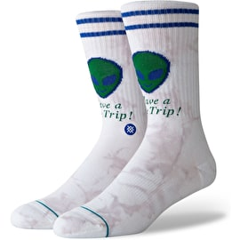 Stance Space Trip Socks - White
