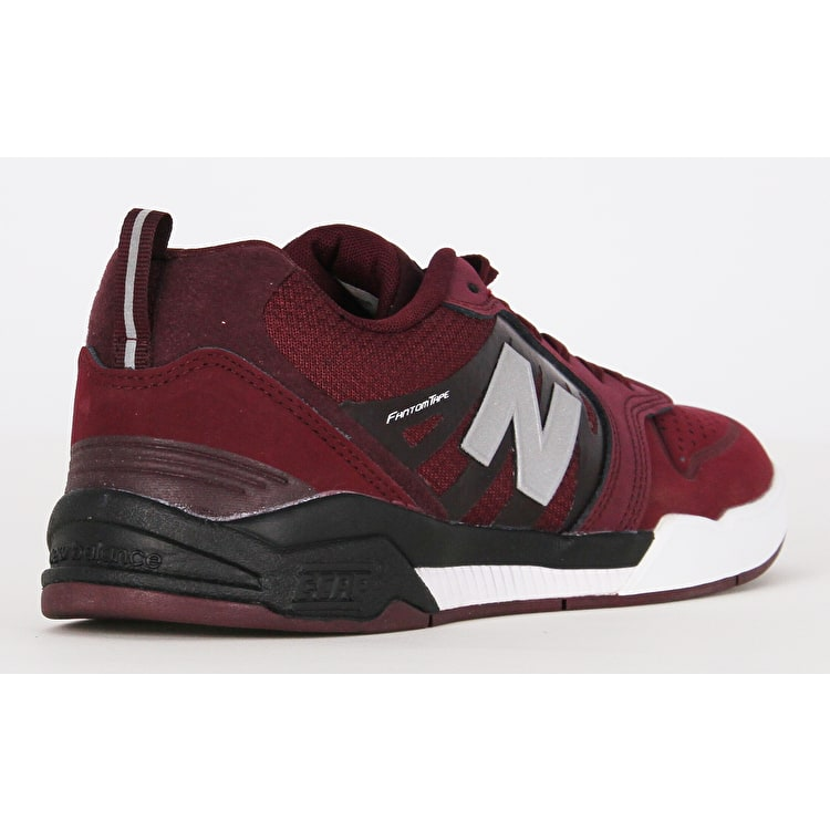 New Balance 868 Skate Shoes - Chocolate Cherry/Black