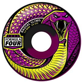Spitfire Formula Four Lucid Death 99D Radial Slim Skateboard Wheels - Purple 54mm (Pack of 4)