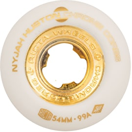 Ricta Huston Chrome Core 99a Skateboard Wheels - White 54mm