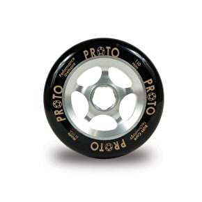 PROTO 110mm Gripper Wheel - Black on Silver