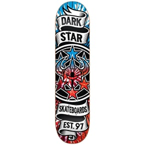 Darkstar Civil Emboss HYB Skateboard Deck - Tie Dye Red/Blue 8.25