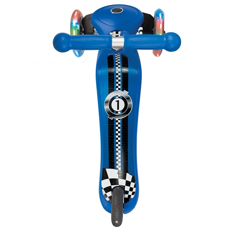 Globber My Free Primo Fantasy Lights Complete Scooter - Racing Navy Blue