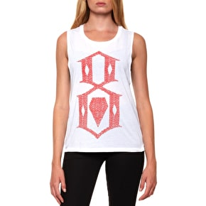 Rebel8 Roll Call Muscle Womens Tank Top - White