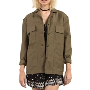 Volcom GMJ Shirt Womens Jacket - Dark Camo
