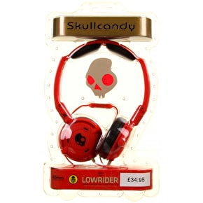Skull Candy Lowrider Headphones - Red (Mic'd)