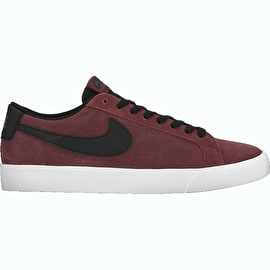 Nike SB Blazer Vapor Skate Shoes - Dark Team Red/Black