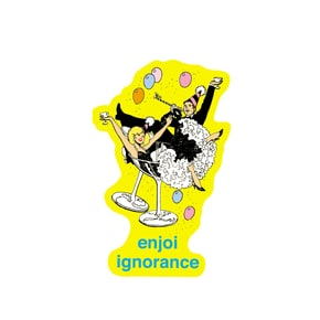 Enjoi Ignorance Single Sticker - Yellow