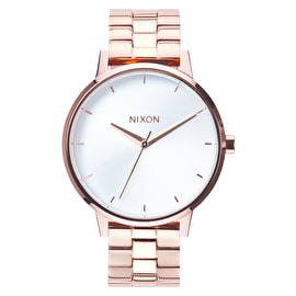 Nixon Kensington Womens Watch - Rose Gold/White