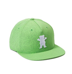 Grizzly Topography OG Bear Snapback Cap - Green