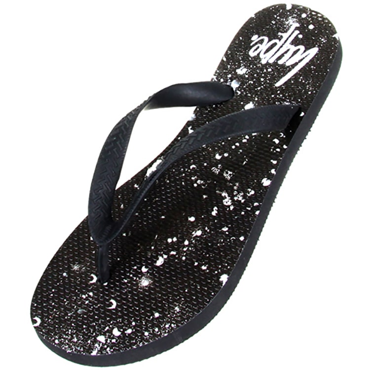 Hype Flip Flops- Black/White Speckle
