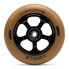 Lucky Atom 110mm Scooter Wheel - Black/Gum (Single)