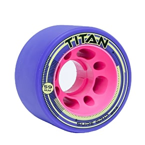 Sure-Grip Titan 59mm Quad Derby Wheels 89a- Purple (4pk)