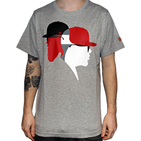 New Era Blend Head T-Shirt - Grey