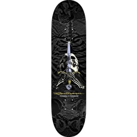 Powell Peralta Ray Rodriguez Skull & Sword Skateboard Deck - Grey/Black 8.75