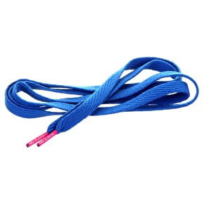Mr Lacy Shoelaces - Flatties Royal Blue/Neon Pink Tip