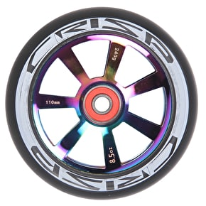 Crisp Hollowtech 110mm Scooter Wheel - Neochrome/Black