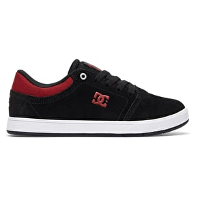 DC Crisis Kids Skate Shoes - Black/Dark Red