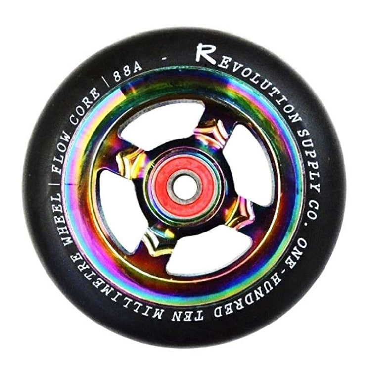 Revolution Flow Core 110mm Scooter Wheel - Black/Neochrome