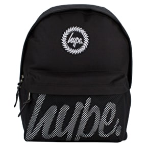 Hype Backpack - Black/White Perforated Pocket