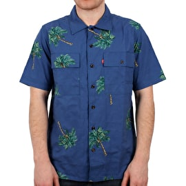 Levi's Skate Button Down Shirt - Watercolour Palm Bright Cobalt