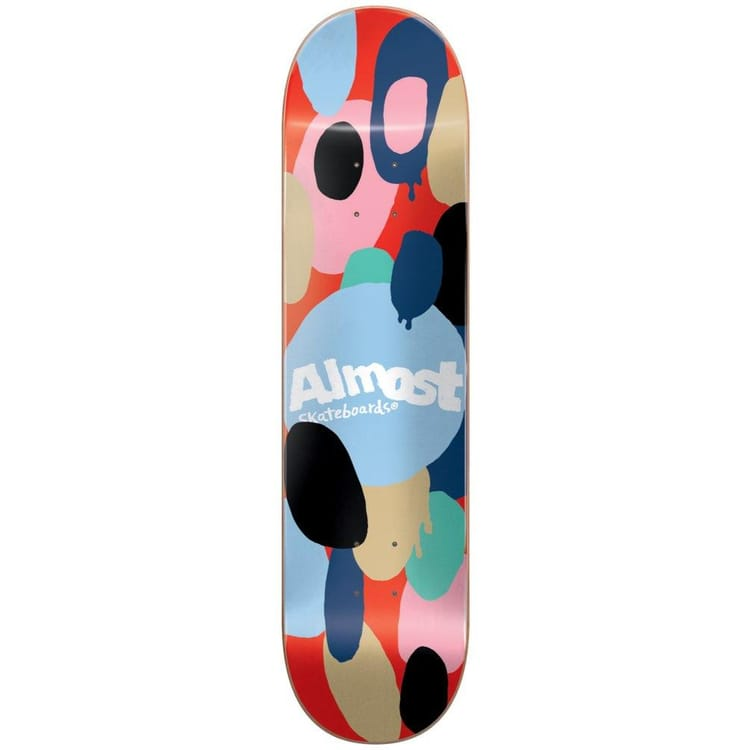 Almost Spotted HYB Skateboard Deck - Red 8""