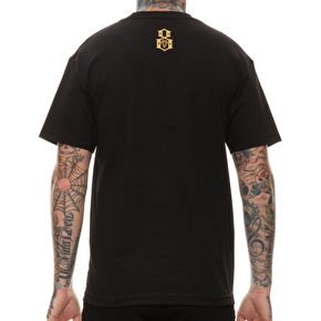Rebel8 Giant Collage Logo T-Shirt - Black
