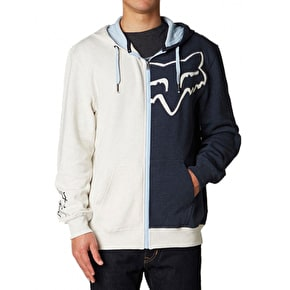 Fox Enigma Zip Front Fleece Hoody - Heather Navy