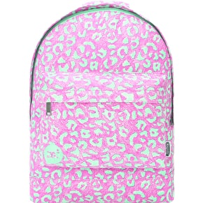 Mi-Pac x Crayola Mini Leopard Backpack - Pink/Aqua