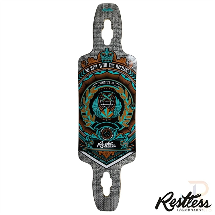 Restless Longboard Deck - Splinter Series Crest 35""