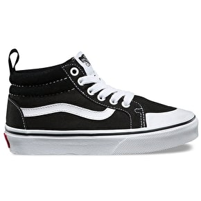 Vans Racer Mid Kids Shoes - (Canvas) Black/True White